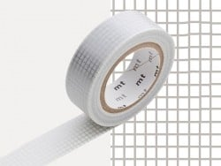 Patterned masking tape - silver-coloured squares