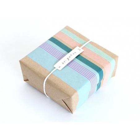 set 2 Masking tape unis - vert olive / caramel