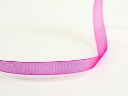 1 m of organza ribbon (6 mm) - fuchsia/pink