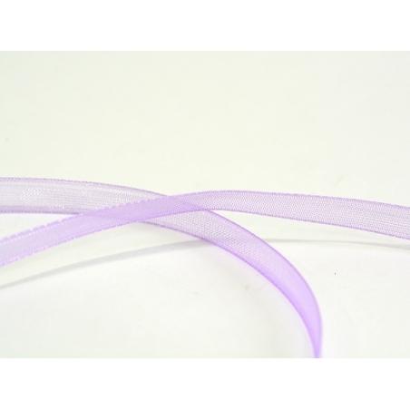1 m of organza ribbon (6 mm) - Pastel violet
