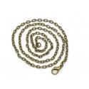 Collier chaine forcat bronze - 51 cm