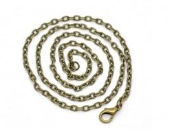 Bronzefarbene Ankerhalskette - 51 cm