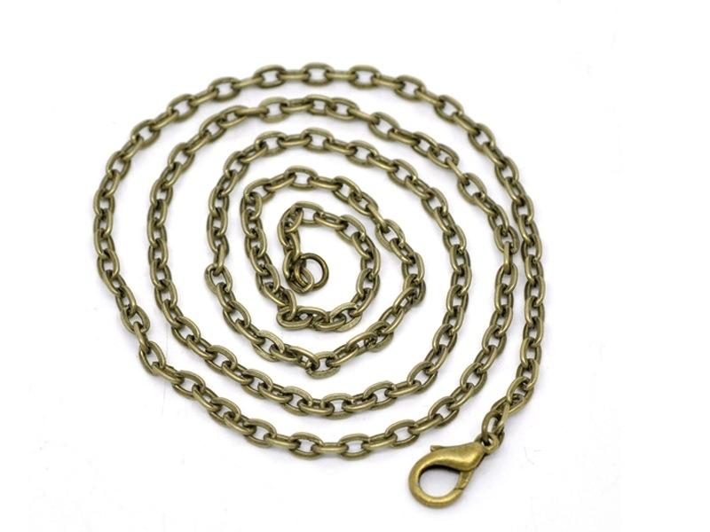 Acheter Collier chaine forcat bronze - 51 cm - 1,69€ en ligne sur La Petite Epicerie - Loisirs créatifs