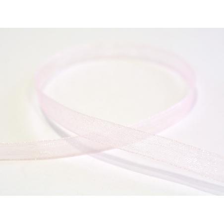 1 m de ruban organza 6 mm - rose pâle