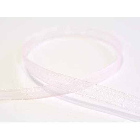 1 m of organza ribbon (6 mm) - Pale pink