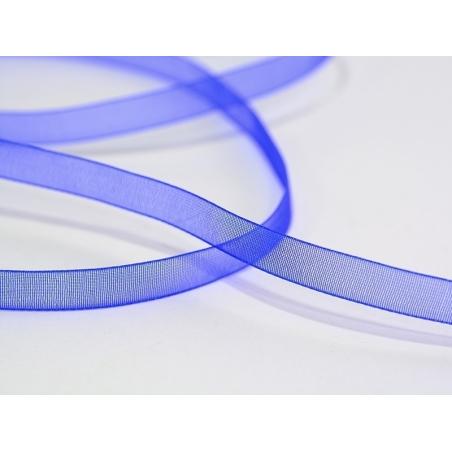 1 m of organza ribbon (6 mm) - Royal blue