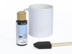 peinture pour tableau pour verre et porcelaine - noir