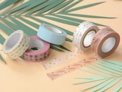 Set of 5 masking tapes - watermelon/pineapple