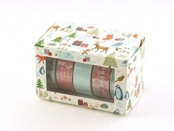 5 masking tape hiver - menthe/rouge Rico Design - 4