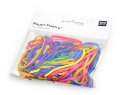 Neon-coloured rubber bands - 45 g