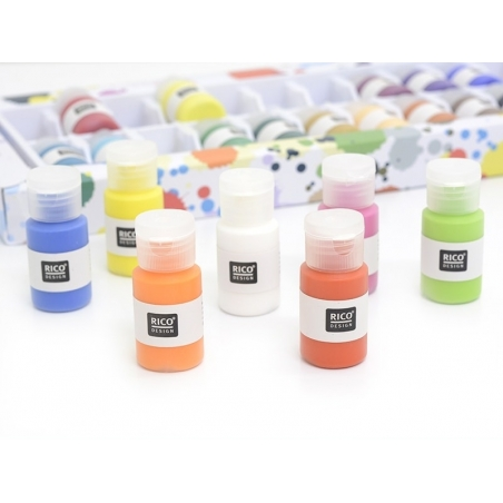 Super set - 24 acrylic paint bottles
