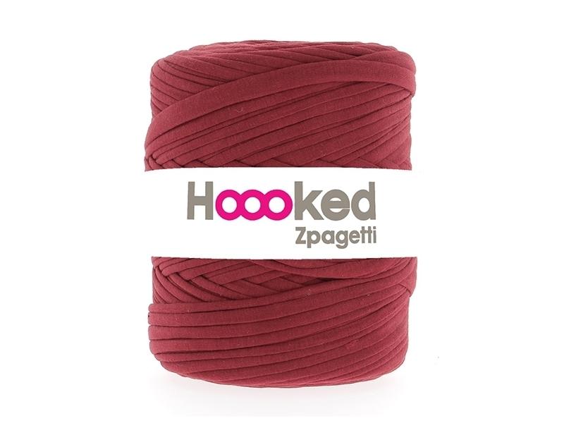 Grande bobine de fil Hoooked Zpagetti - Rouge violine Hoooked Zpagetti - 1