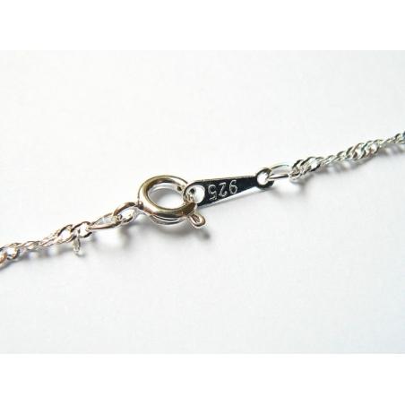 Acheter Collier chaine torsadée argent - 43 cm - 1,89€ en ligne sur La Petite Epicerie - Loisirs créatifs