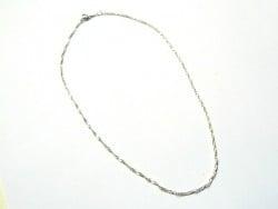 Collier chaine torsadée argent - 43 cm