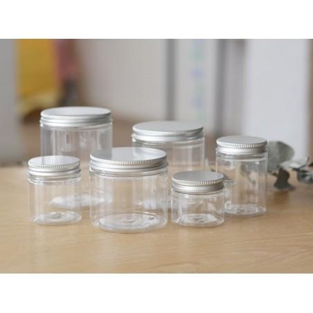 Pot / bocal plastique 250 ml avec couvercle en aluminium  - 2