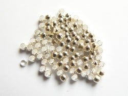100 perles à écraser couleur argent