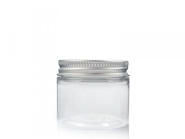 Bocal plastique 50 ml avec couvercle en aluminium  - 1
