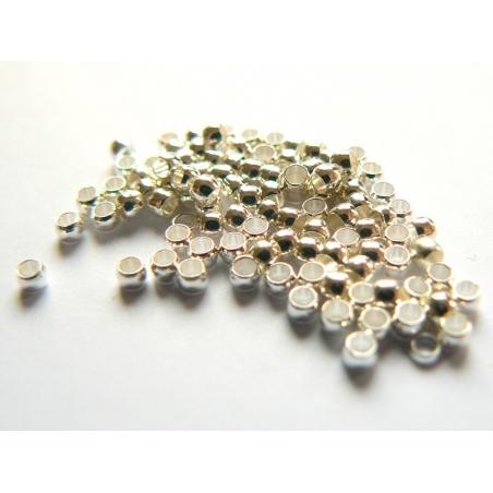 Acheter 100 perles à écraser couleur argent - 1,59€ en ligne sur La Petite Epicerie - Loisirs créatifs