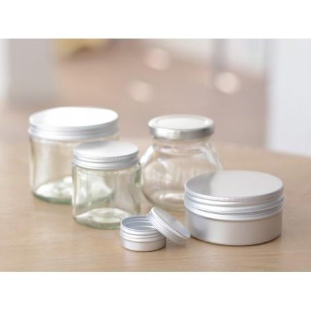 Acheter Bocal en verre transparent 120 ml avec couvercle en aluminium - 3,49€ en ligne sur La Petite Epicerie - 100% Loisirs...