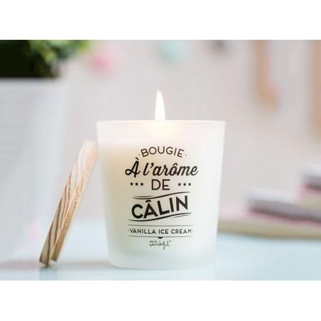 """Acheter Bougie parfum vanilla ice-cream - """"Bougie à l'arôme de câlin"""" - 16,90€ en ligne sur La Petite Epicerie - 100% Loisir..."""