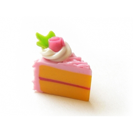 1 délicieuse part de gâteau - glaçage framboise  - 1