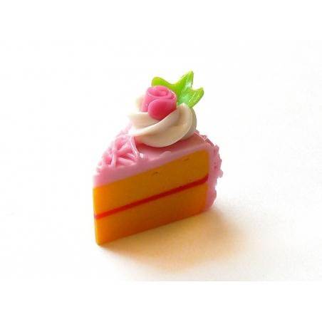 1 délicieuse part de gâteau - glaçage framboise  - 2