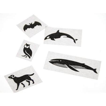 Masking tape à motifs - black animals Masking Tape - 4