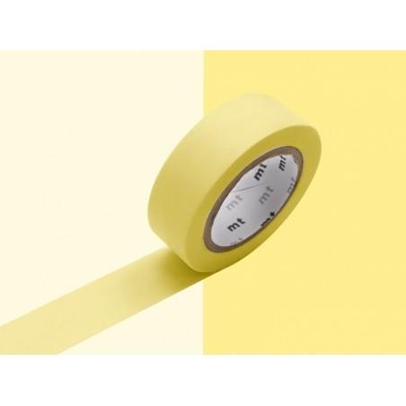 Masking tape uni - jaune pastel Masking Tape - 6