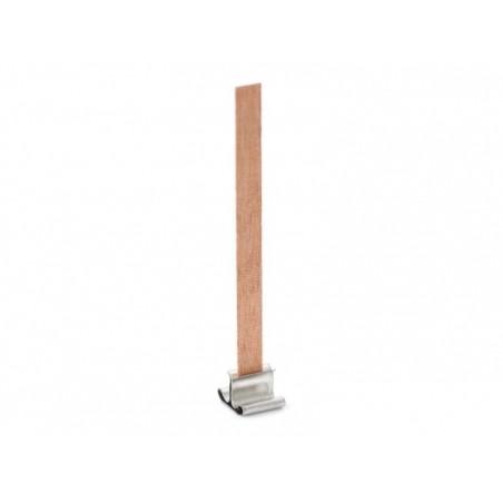 Mèche en bois pour création de bougies -  9 cm  - 3