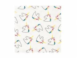 20 serviettes en papier - licorne