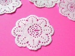 20 petits napperons en papier 3,7 cm  - 1