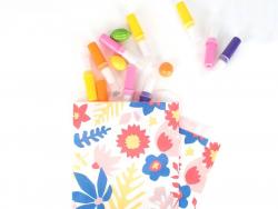 10 pochettes en papier - fleurs