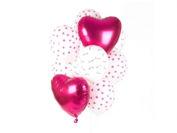 5 ballons transparents - bisous