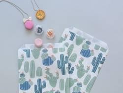 10 pochettes en papier - cactus