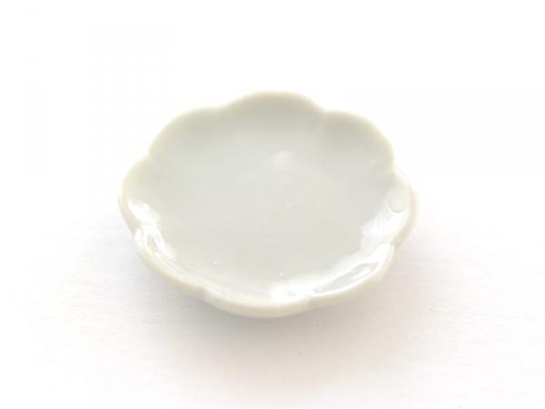 Assiette en forme de fleur miniature - 2,8 cm  - 1