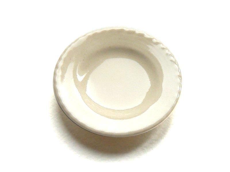 Plat rond crème  - 1