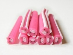 Small pig cane - pink