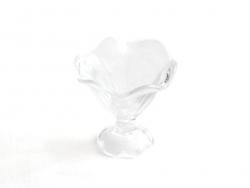 Coupe glacée à bord ondulé en verre miniature