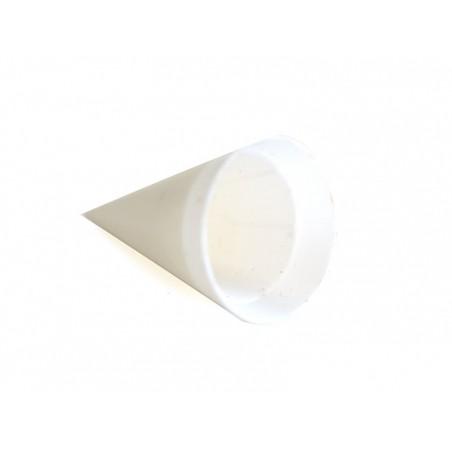 Grand pot en plastique blanc miniature