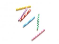 Six bâtons de sucres d'orge miniature