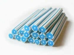 Blumencane - weiß und blau