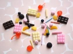 Un cabochon tablette de chocolat