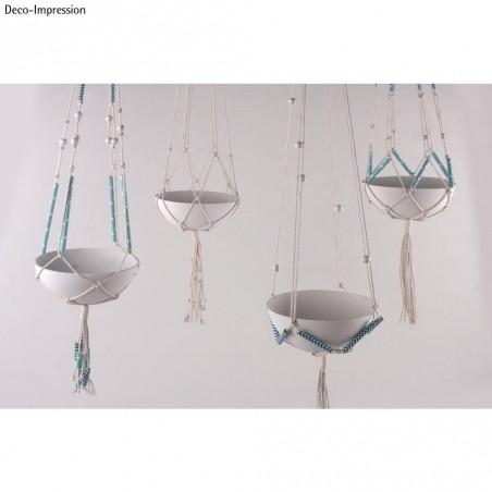 Acheter Kit 4 suspensions en macramé - ⌀ 14 cm - 30,25€ en ligne sur La Petite Epicerie - 100% Loisirs créatifs