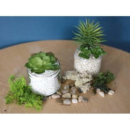 acheter fausse plante succulente echeveria vert en ligne. Black Bedroom Furniture Sets. Home Design Ideas