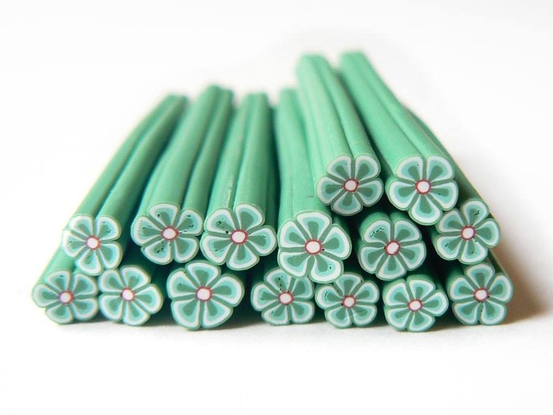 Flower cane - dark green