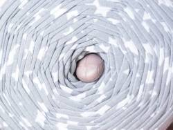 Grande bobine de fil trapilho - gris étoile blanche