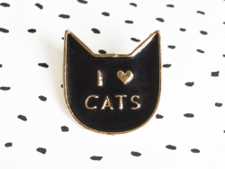 "pin's ""i love cats"""