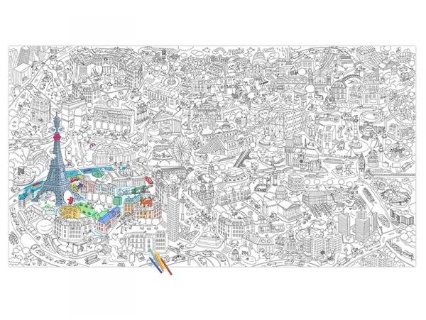 Acheter Rouleau de coloriage XXL - Paris - 19,90€ en ligne sur La Petite Epicerie - 100% Loisirs créatifs