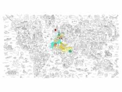Rouleau de coloriage XXL - Atlas OMY  - 1