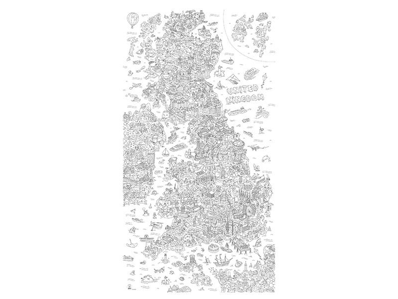 Acheter Rouleau de coloriage XXL - Royaume-Uni - 19,90€ en ligne sur La Petite Epicerie - 100% Loisirs créatifs